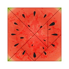 Summer watermelon design Acrylic Tangram Puzzle (6  x 6 )
