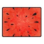 Summer watermelon design Double Sided Fleece Blanket (Small)  50 x40 Blanket Back