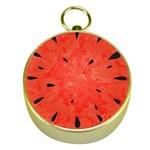 Summer watermelon design Gold Compasses Front