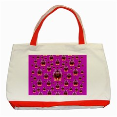 A Cartoon Named Okey Want Friends And Freedom Classic Tote Bag (Red)