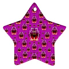 A Cartoon Named Okey Want Friends And Freedom Star Ornament (two Sides)