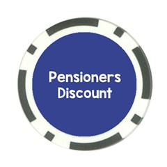 Pensioners Discount Sale Blue Poker Chip Card Guard (10 Pack)