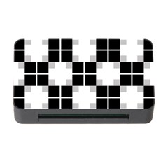 Plaid Black White Memory Card Reader With Cf
