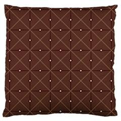 Coloured Line Squares Brown Plaid Chevron Large Cushion Case (two Sides)
