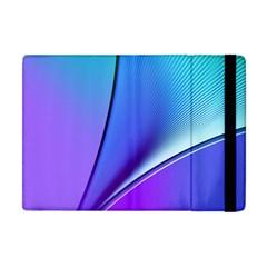 Line Blue Light Space Purple Apple Ipad Mini Flip Case