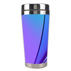 Line Blue Light Space Purple Stainless Steel Travel Tumblers