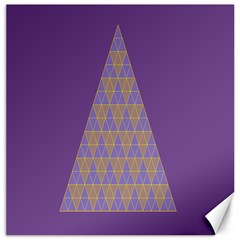 Pyramid Triangle  Purple Canvas 16  X 16