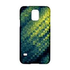 Polygon Dark Triangle Green Blacj Yellow Samsung Galaxy S5 Hardshell Case