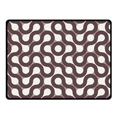 Seamless Geometric Circle Double Sided Fleece Blanket (small)