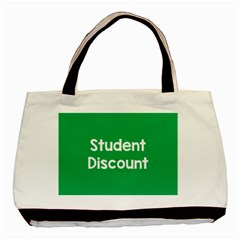 Student Discound Sale Green Basic Tote Bag (two Sides)