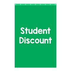 Student Discound Sale Green Shower Curtain 48  X 72  (small)