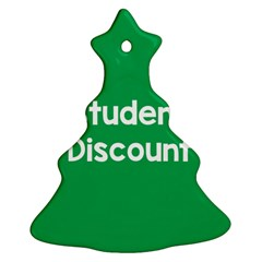 Student Discound Sale Green Christmas Tree Ornament (two Sides)