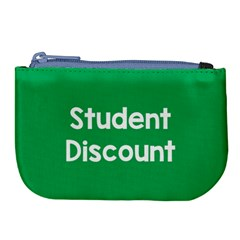 Student Discound Sale Green Large Coin Purse