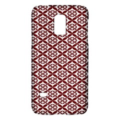 Pattern Kawung Star Line Plaid Flower Floral Red Galaxy S5 Mini