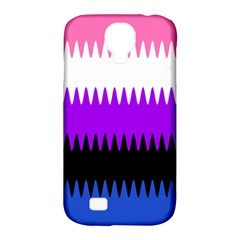 Sychnogender Techno Genderfluid Flags Wave Waves Chevron Samsung Galaxy S4 Classic Hardshell Case (pc+silicone)