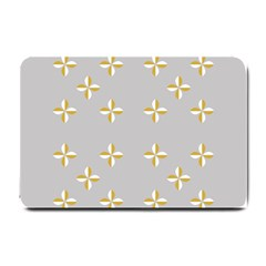 Syrface Flower Floral Gold White Space Star Small Doormat