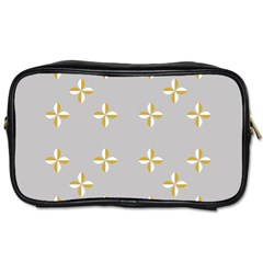 Syrface Flower Floral Gold White Space Star Toiletries Bags 2 Side
