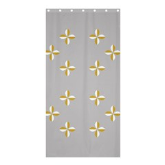 Syrface Flower Floral Gold White Space Star Shower Curtain 36  X 72  (stall)