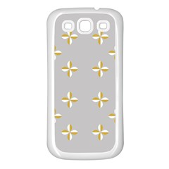 Syrface Flower Floral Gold White Space Star Samsung Galaxy S3 Back Case (white)