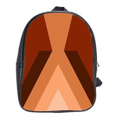 Volcano Lava Gender Magma Flags Line Brown School Bags(large)