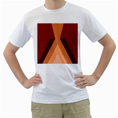 Volcano Lava Gender Magma Flags Line Brown Men s T Shirt (white)