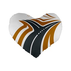 Transparent All Road Tours Bus Charter Street Standard 16  Premium Flano Heart Shape Cushions
