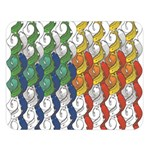 Rainbow Fish Double Sided Flano Blanket (Large)  80 x60 Blanket Front