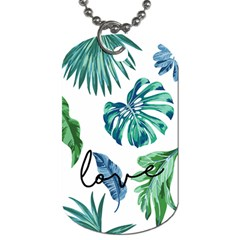 Palm Leaves Monstera Love Dog Tag (one Sided)