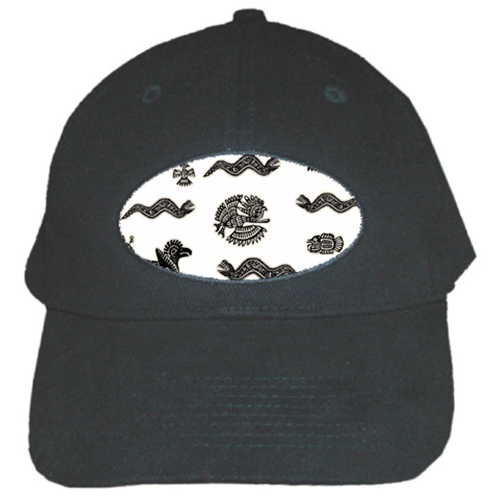 Aztecs pattern Black Cap