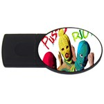 Pussy Riot USB Flash Drive Oval (2 GB) Front
