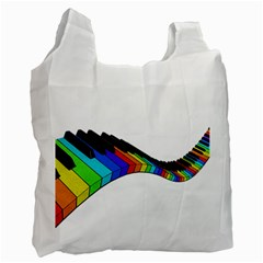 Rainbow Piano  Recycle Bag (one Side)