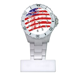 American flag Plastic Nurses Watch