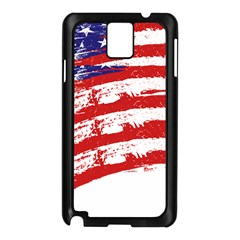 American flag Samsung Galaxy Note 3 N9005 Case (Black)