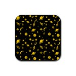 Space pattern Rubber Square Coaster (4 pack)  Front