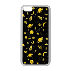 Space pattern Apple iPhone 5C Seamless Case (White)