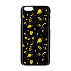 Space pattern Apple iPhone 6/6S Black Enamel Case