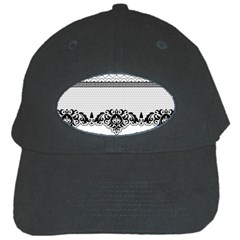 Transparent Lace Decoration Black Cap