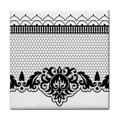 Transparent Lace Decoration Tile Coasters