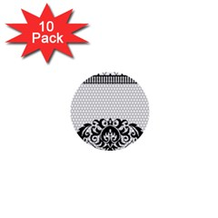 Transparent Lace Decoration 1  Mini Buttons (10 Pack)