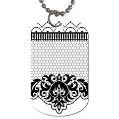 Transparent Lace Decoration Dog Tag (one Side)