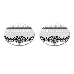 Transparent Lace Decoration Cufflinks (Oval)