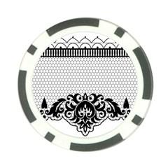 Transparent Lace Decoration Poker Chip Card Guard