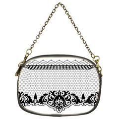Transparent Lace Decoration Chain Purses (one Side)
