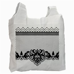 Transparent Lace Decoration Recycle Bag (one Side)