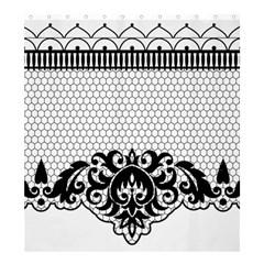 Transparent Lace Decoration Shower Curtain 66  X 72  (large)
