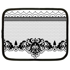 Transparent Lace Decoration Netbook Case (XXL)