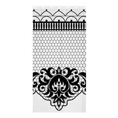 Transparent Lace Decoration Shower Curtain 36  X 72  (stall)