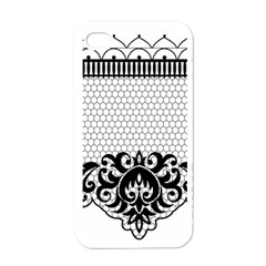 Transparent Lace Decoration Apple Iphone 4 Case (white)
