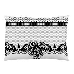 Transparent Lace Decoration Pillow Case (Two Sides)