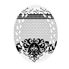Transparent Lace Decoration Ornament (Oval Filigree)